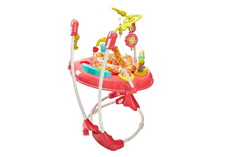 Color Rosa Centro de Actividades para reci/én Nacido con m/úsica y Luces Fisher-Price Petals Jumperoo