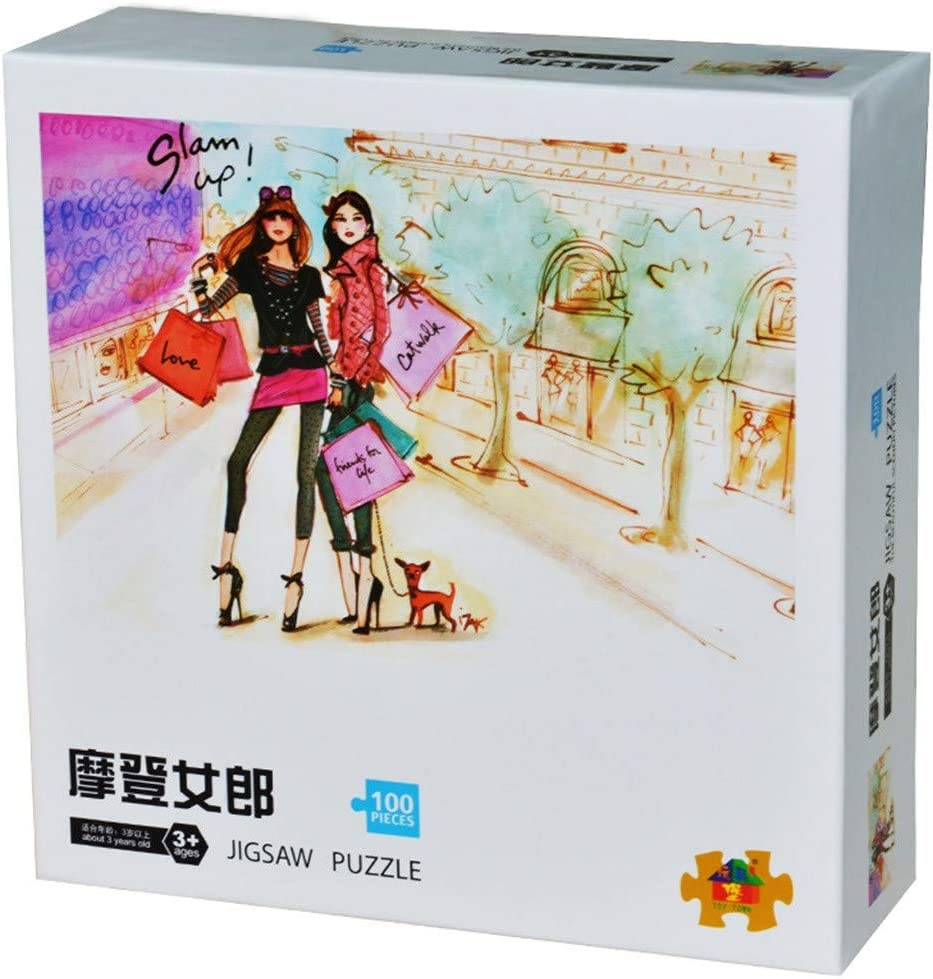 Klions 100 Piece Adult Puzzles Large Jigsaw Puzzles Game Toy Painting Interlocking Assembly Paper Piece Board Photo Decoration Stress Relief Gift for Adult Teen Child