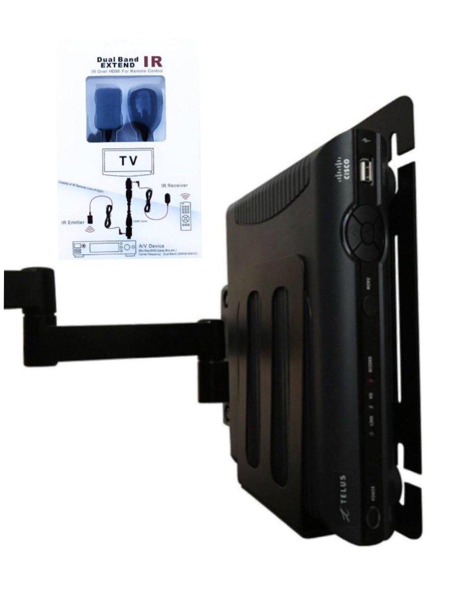 Cable Box Wall Mount (Patent Pending) with IR Transmitter! - Kiko Mount Kiko Innovations Inc.