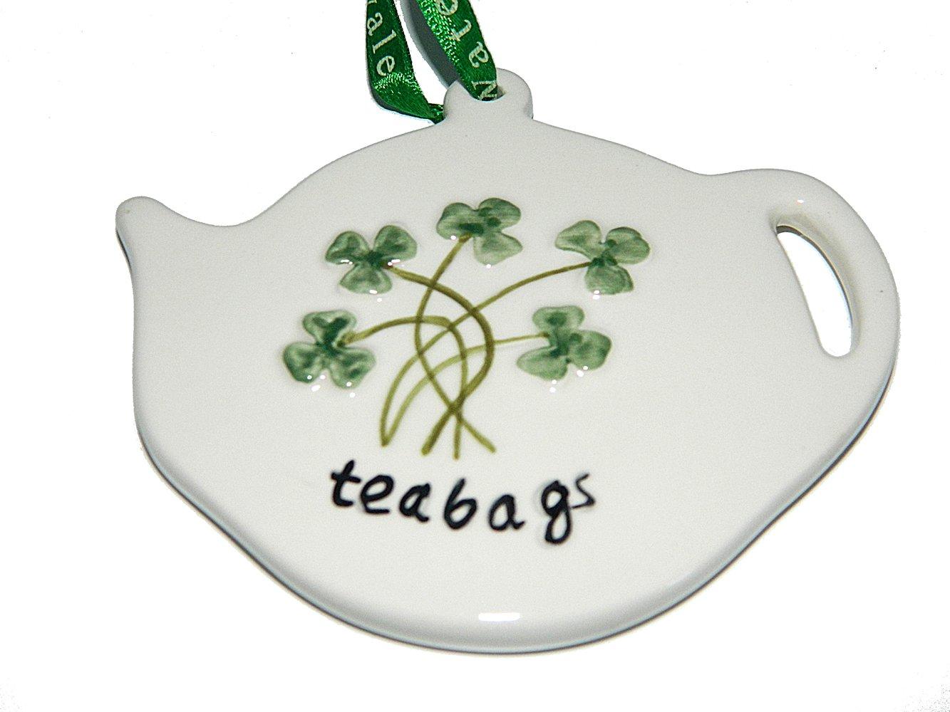 Watervale Tea Bag Holder With Shamrocks Allied Irish