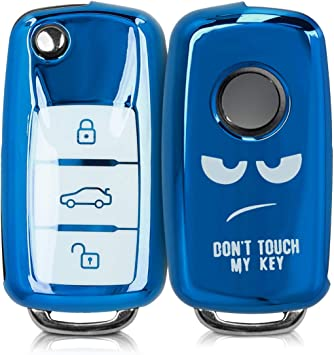 Dont Touch My Key kwmobile Key Cover Compatible with VW Skoda Seat
