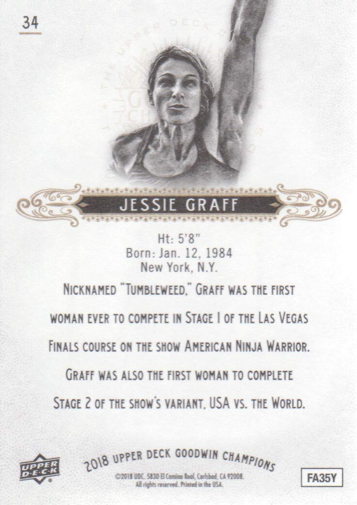 2018 Upper Deck Goodwin Champions #34 Jessie Graff Athlete ...