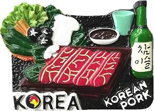3D Korean Food Korea Fridge Magnet Souvenir Gift,Home & Kitchen Decoration Magnetic Sticker Korea Refrigerator Magnet