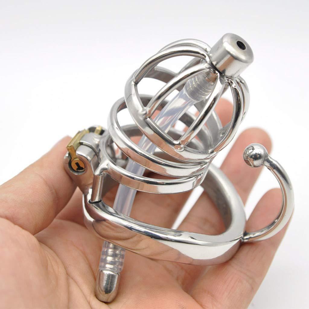 Cinturones de castidad Chastity Cage, Catéter de acero tubo de acero de inoxidable Chastity Lock/Belt Cb6000 Curved With Hook Ring (Color : 40mm) bd06cf