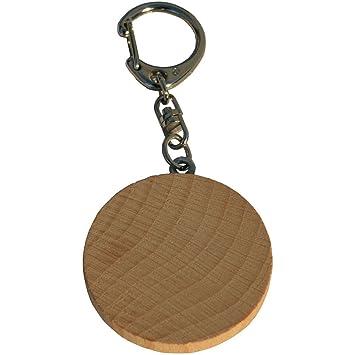 Holz Schlüsselanhänger Holz Scheibe Zum Basteln Gestalten Selber Machen 4cm    1 Stück