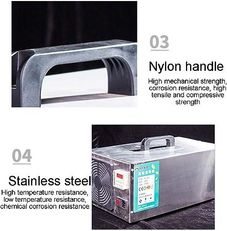 MZBZYU Generador de ozono O3 Purificador De Aire Máquina de Ozono con Temporizador para La Esterilización De Formaldehído en El Hogar, Humo De Automóviles y Mascotas(10000mg/h): Amazon.es: Deportes y aire libre
