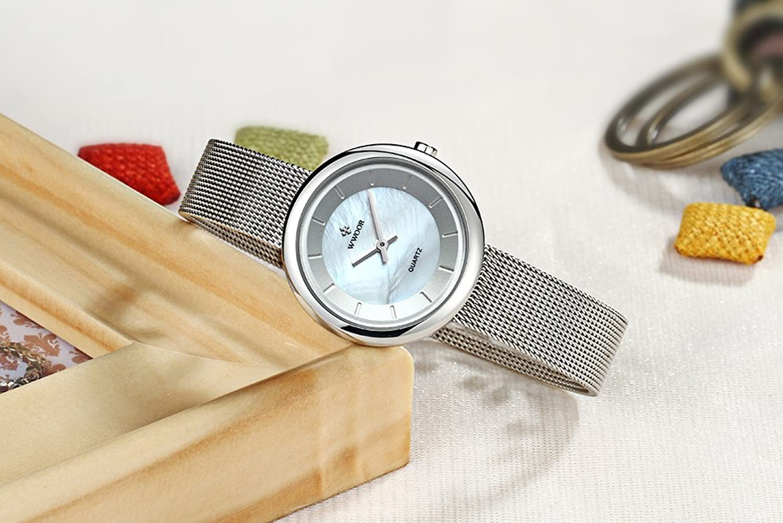 Amazon.com: WWOOR women Watches Quartz-watch coupons for Ladies Watch Women Classic Retro Stainless Straps 014(white): Watches