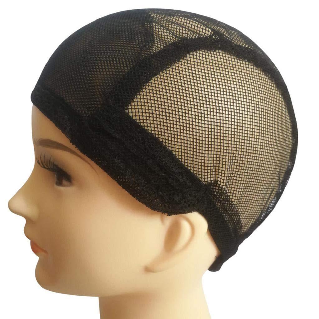 DOINSHOP Wig Cap Making Elastic Breathable Lace Mesh Net Weaving Cap Adjustable Head