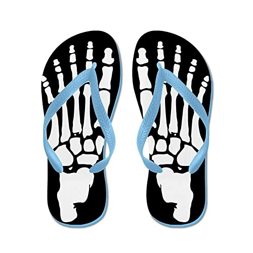 b386f0a1f Image Unavailable. Image not available for. Color  CafePress - Skeleton Feet  - Flip Flops ...