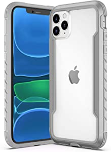 Saikee Compatible with iPhone 11 Pro Max Cases, Clear iPhone 11 Pro Max Cases with Edge Shockproof Protection, TPU Protective Case Cover for Apple iPhone 11 Pro Max (Gray)
