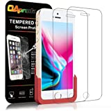 【専用ガイド枠付き / 2枚セット】OAproda iPhone SE / 5S / 5 ガラスフィルム 液晶保護 日本旭硝子製 強化ガラス【極薄0.2mm 】【3D Touch対応/業界最高硬度/高透過率】4.0inch