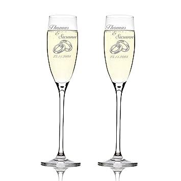 Leonardo 2er Set Sektglaser Mit Gravur Hochzeitsgeschenke Fur