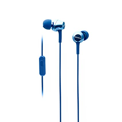 54f9bff645a Sony MDR-EX255AP in-Ear Headphones with Mic (Blue): Buy Sony MDR-EX255AP in-Ear  Headphones with Mic (Blue) Online at Low Price in India - Amazon.in