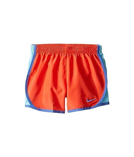 c67566b871d04 NIKE Girl`s Dry Tempo Shorts (Max Orange (848196-852)/Water Blue/Blue, 6X):  Amazon.co.uk: Clothing