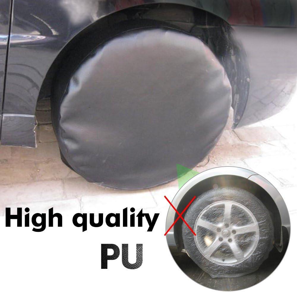"Car Heavy Duty Vinyl PU Leather 17/"" Spare Wheel Tire Tyre Cover Cap Bag Shell"