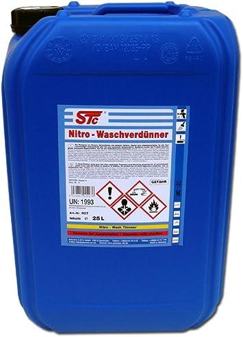 Stc Nitro Waschverdünnung 25 L Kanister Reiniger Nitro Wasch Verdünner Auto