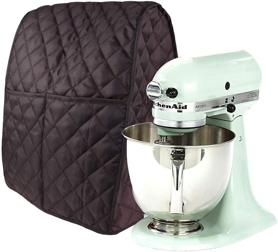 Stand Mixer Cover Dustproof Kitchen Aid Mixer Covers Waterproof Thicken Protective Covers with Organizer Bag for Kitchen Mixer (Coffee)