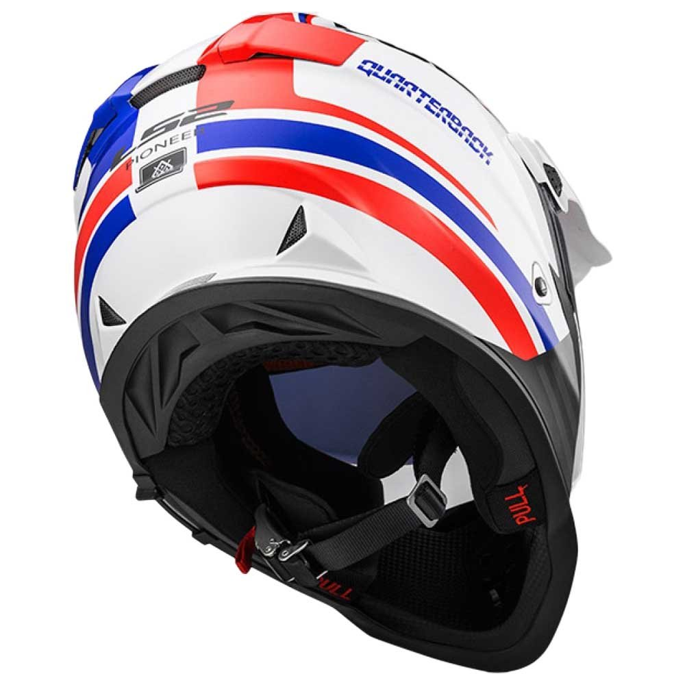 Gray//Orange, Large LS2 Helmets Element Unisex-Adult Full-Face-Helmet-Style Pioneer Helmet