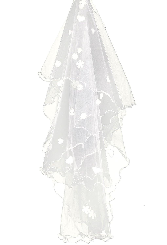 FakeFace 3m Lang Brautschleier Kathedrale T/üll Stickerei Braut Hochzeit Schleier Blumen Deko zum Brautkleid wei/ß