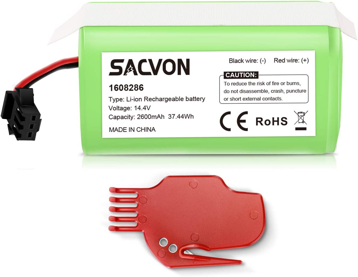 11S MAX Amityke 14.4V 2600mAh Li-ion Replacement Battery Compatible with RoboVac 11S 12 15T 30 15C MAX 35C 30C MAX 15C