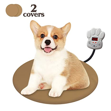 Manta electrica para perros y Gatos con 7 Niveles de Temperatura Ajustables(D30cm)