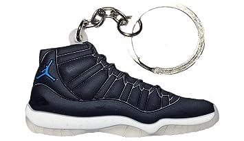 92ec7d733a0 Nike Jordan 11 XI Black Blue  quot Space Jam quot  2D Flat Sneaker Keychain