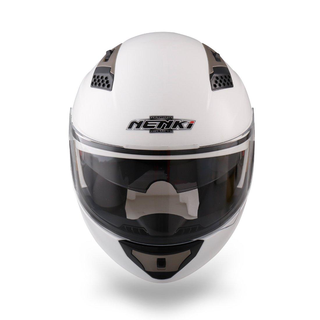 XGro/ß,Schwarz) NENKI NK-860 klapphelm f/ür Motorrad Moped Roller