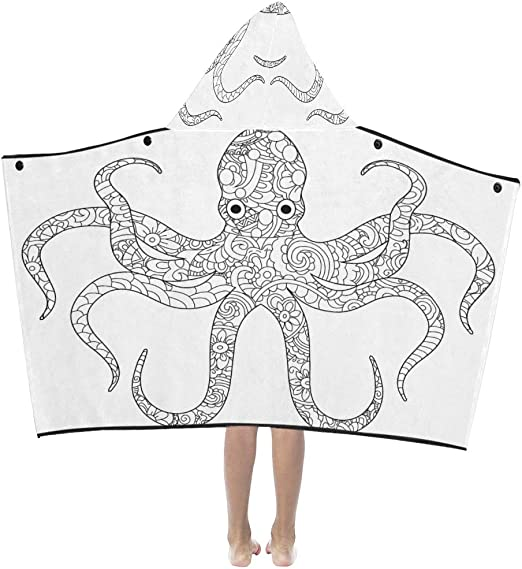 - Amazon.com: Kid Blankets For Girls Octopus Sea Animal Coloring Book For  Adults Raster Kids Hooded Blanket Bath Towels Throw Wrap For Toddler Child  Girl Boy Home Travel Sleep Bath Towels Kids Boys: