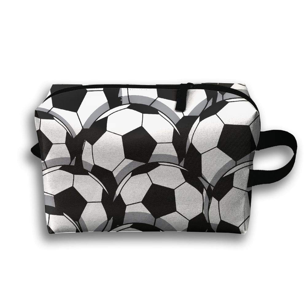 c4f53a9985f3 Amazon.com : WUGOU Travel Cosmetic Pouch Bag Football Soccer Sport ...