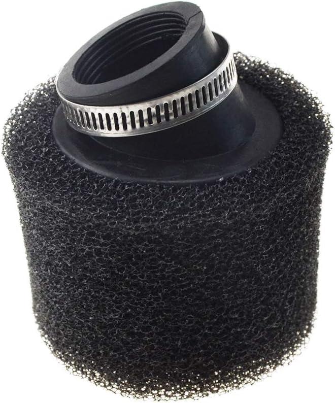 Woostar /Éponge nettoyante en mousse pour filtre /à air 38 mm Angle 45 degr/és pour moto 125cc 150cc CRF KLX motocyclette scooter Dirt Pit Bike ATV