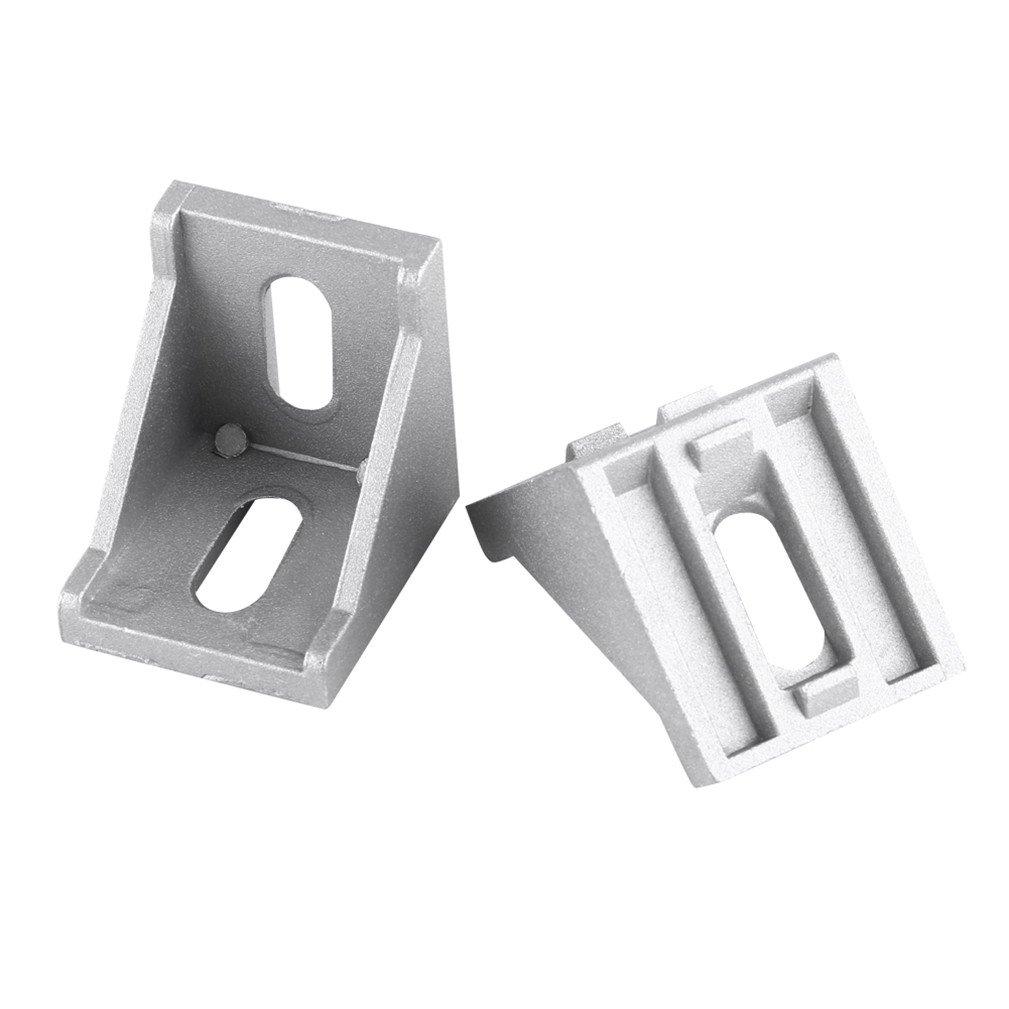 10Pcs Aluminum Alloy L Shape Corner Bracket Right Angle Brace Fastener 40x40mmx35mm