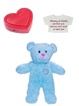 4fcf37be51a Baby Heartbeat Personalised Teddy Bears - 3d 4d Doppler Scan Pregnancy Bear  (Blue Bear)