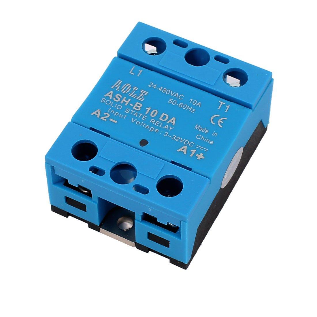 Bem 14840da 3 32v Dc To 24 480v Ac 40a Output Single Solid State Relay 220v Phase Ssr Home Improvement