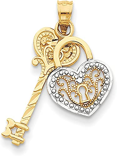 Lex /& Lu 14k Yellow Gold Polished and Satin Four Way Medal Pendant