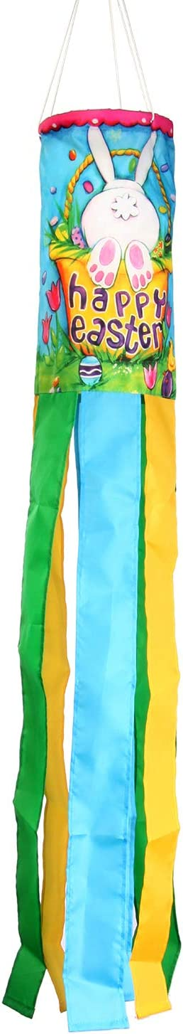 Toland Home Garden 162513 Bunny Tail Decorative Windsock, Multicolor