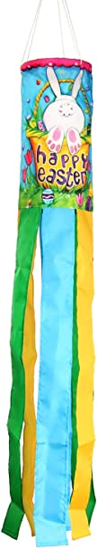Toland Home Garden 162513 Bunny Tail Decorative Windsock Multicolor