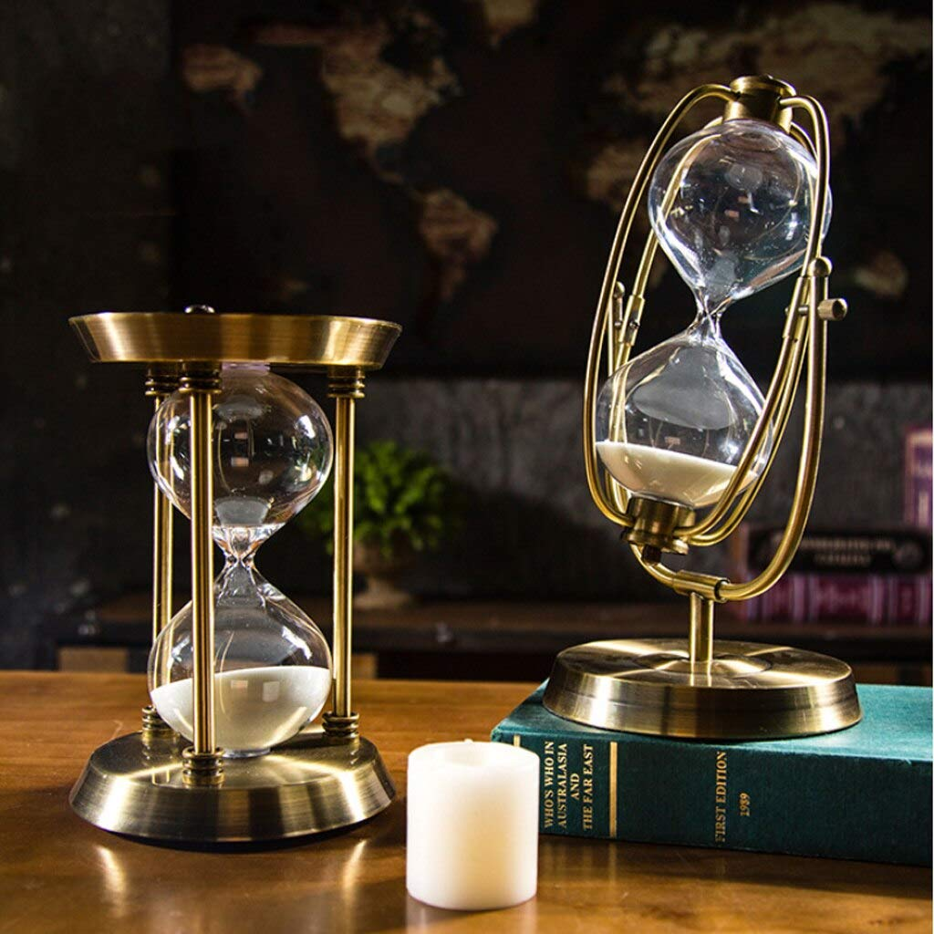 Computer accessories - 15-30-60 Min Elegant Sandglass Time Counter Count Down Timer Hourglass Clock Decoration Xmas Gifts by trang tri