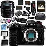 Panasonic Lumix DC- G9 DC-G9KBODY Mirrorless Micro Four Thirds Digital Camera Leica DG Summilux 12mm f/1.4 ASPH. Lens DMW-BGG9 Battery Grip Bundle