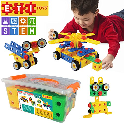 ETI Toys | STEM Learning | Original 93 Piece Educational Construction Engineering Building Blocks Set for 3, 4 and 5+ Year Old Boys & Girls | Creative Fun Kit | Best Toy Gift for Kids Ages 3yr - 6yr