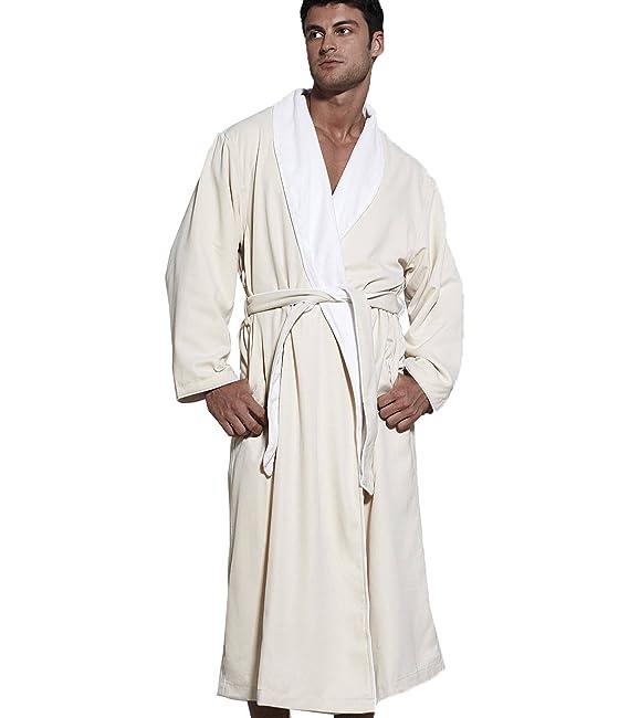 Amazon.com  TurkishTowels Mens and Womens Silk-soft Luxury Spa Robe   Clothing c00ce7815