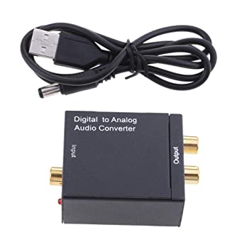 non-brand MagiDeal Adaptador de Audio Analógico Digital Coaxial a RCA con Cable USB