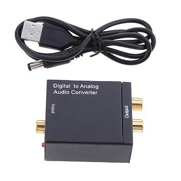 non-brand MagiDeal Adaptador de Audio Analógico Digital Coaxial a RCA con Cable USB