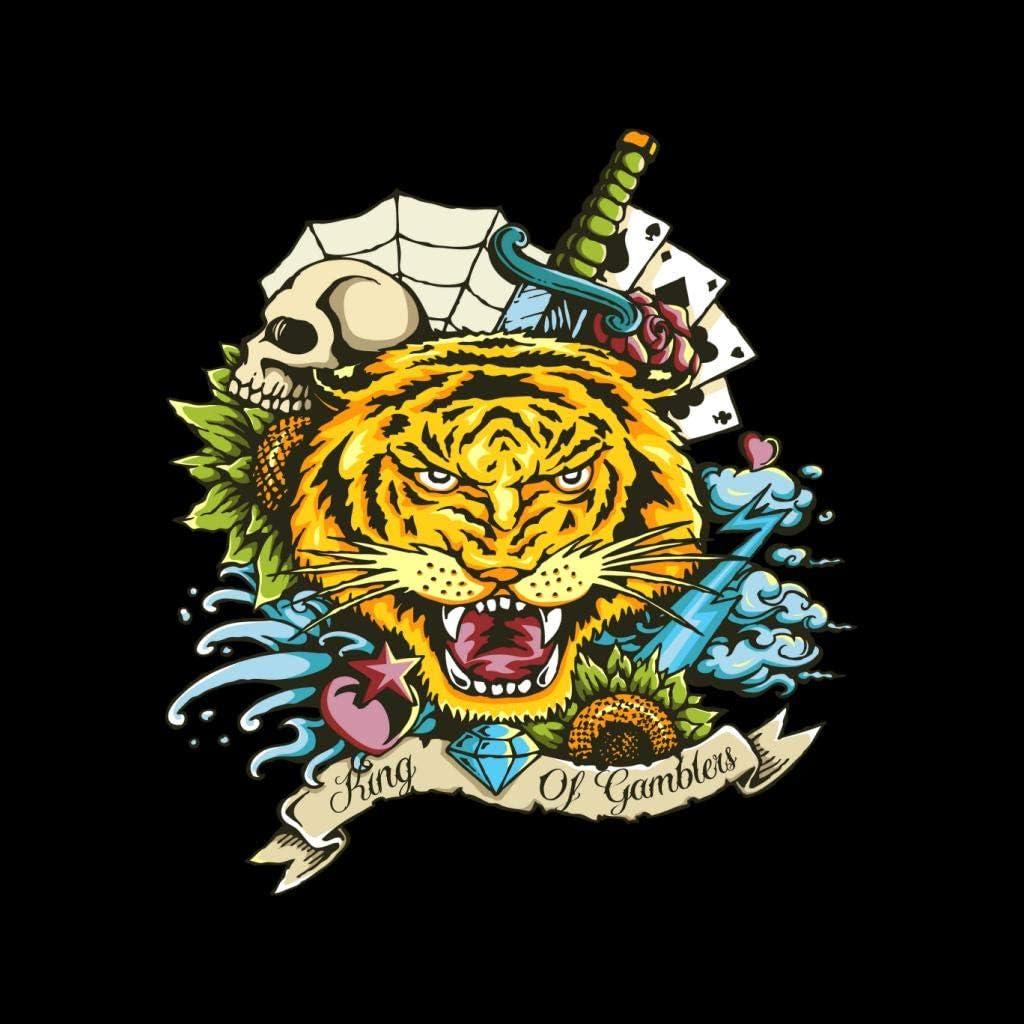 King of Gamblers Tiger Tattoo Kids Sweatshirt