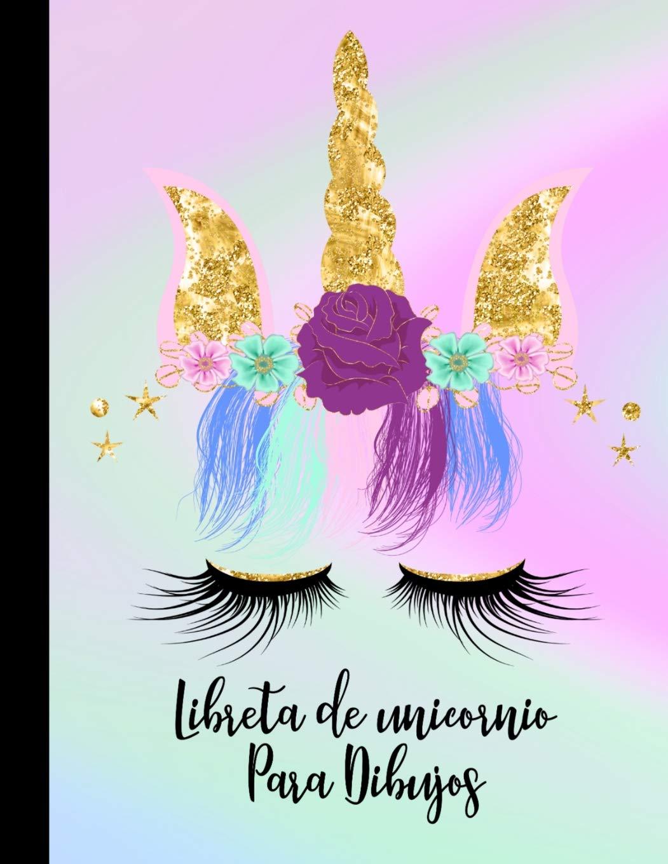Libreta De Unicornios Para Dibujos Diario De Pintar Y Dibujar