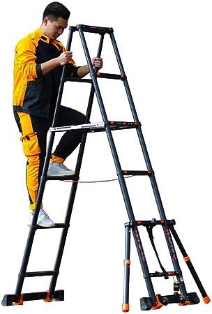 Escalera telescópica Negro Aluminio Multiusos Alto Escaleras de extensión para Industrial Hogar Diario o Uso de Emergencia, 2m / 3m / 4m, Carga 150kg (Size : 3.9m/12.8ft): Amazon.es: Hogar