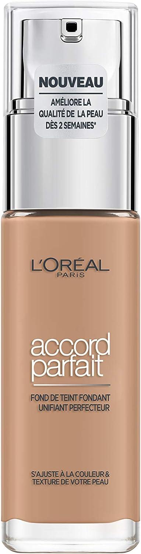 L'Oréal Paris Make-Up Designer Accord Parfait - 5.D/5.W Golden Sand - Foundation base de maquillaje Frasco dispensador Líquido - Base de maquillaje