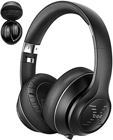 Amazon Com Tribit Xfree Tune Bluetooth Headphones 40h Playtime Bluetooth Headphones Over Ear With Hi Fi Stereo Sound Rich Bass Cnet S Award Comfortable Headphones With Microphone Foldable Black