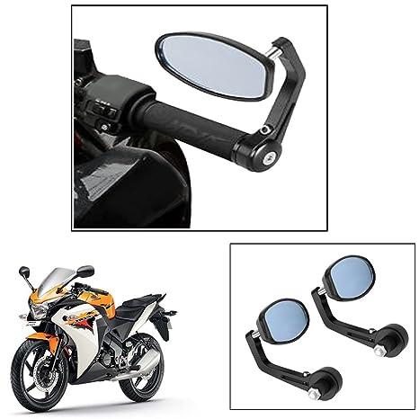 Vheelocity Motorycle Bar End Mirror Rear View Mirror Ovalfor Honda