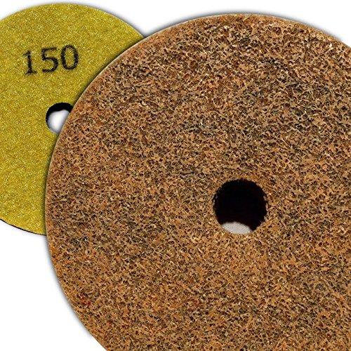 4 inch Kent Grit 150 Diamond Sponge Fiber Pad for Marble (Kent Sponges)