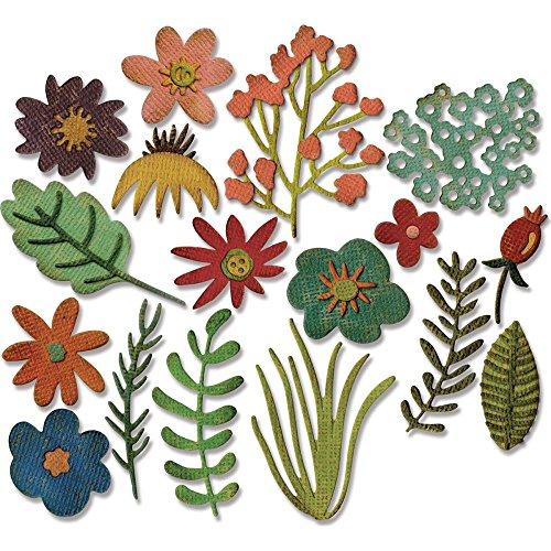 Sizzix Thinlits Dies by Tim Holtz - Funky Floral (Simple Flowers Set)